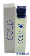 COLD BY BENETTON 3.4/3.3 OZ EDT SPRAY FOR MEN NEW IN BOX