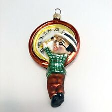Christopher Radko Millennium Clock Small Ornament