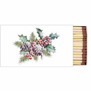 Streichholzschachtel HOLLY AND BERRIES 45 Streichhölzer Ambiente   Winter