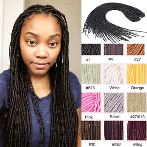 "20"" Thin Faux Locs Micro Dreadlock Twist Dreads Synthetic Crochet Hair Extension"