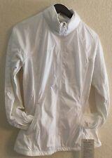 LULULEMON Rush Hour Jacket White Glyde Fabric Size 6 NWT
