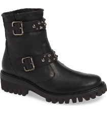 NIB Paul Green Veronia Studded Buckle Women's Boots Blk Leather US 7 $525