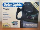 Westinghouse Solar Lights Landscape Lighting Charges In The Sun or Shade 2ct New