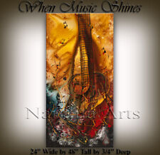 Guitar Painting on Canvas Art Original Guitar Painting Artwork, Nandita Albright