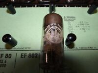 Röhre Valvo EF 80 Tube 6 mA Valve auf Funke W19 geprüft BL-1885