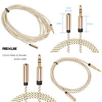 3mm Male To Female Stereo Audio Aux Headphones Cable Extension Cords Audio Cable