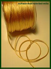 (€0,19/m)=GOLD=Satin Schnur/Kordel=10m x 2mm=goldene Satinschnur=Jubiläum==NEU==