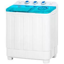 Mini Twin Tub Portable Compact Washing Machine Spin Dry Cycle 12lbs capacity