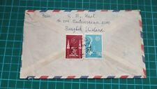 1960s Thailand Bangkok 2v SEAP Games 1959 stamp Cover to Johore Malaya