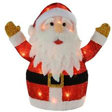 Large Farther Christmas Santa Silhouette Warm LED Lights Decoration - 53cm