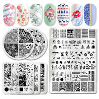 PICT You Nail Stamping Plates Marble Flower Pattern Nail Art Stencil Templates
