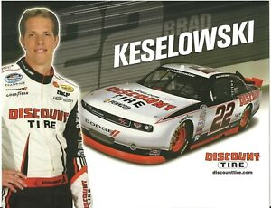 2012 Brad Keselowski Discount Tire Dodge Challenger NASCAR postcard