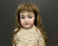 "Antique 18"" German Bisque Head Doll Paperweight Eyes 7 1/2 C 1/2 - Kestner?"