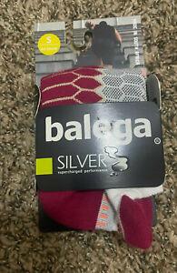 Balega Silver No Show Running Socks small White Wildberry