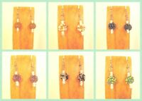 6 Pairs Handmade Beaded Simple Snowball Earring Party Mix WHOLESALE