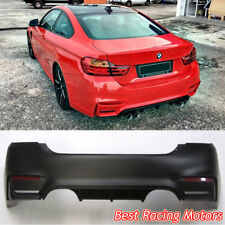 M4 (F82) Style Rear Bumper (2 Outlets) [2 Tips / Outlet] Fits 14-18 BMW F32 F33