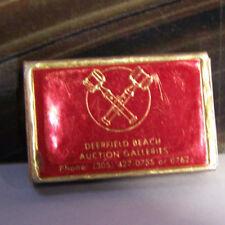 Vintage Matchbook Z2 Japan Deerfield Beach Auction Galleries Gavel Hammer Box