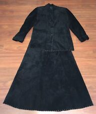 Leather Renditions By Sandi Womens Jacket & Skirt Western Outfit Size Medium