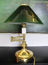 Superb quality Art Deco vintage TABLE ~ DESK  LIGHT / LAMP with a glass shade.