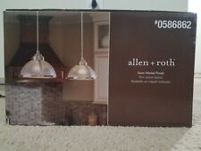 allen + roth Satin Nickel Mini Vintage Clear Glass Dome Pendant