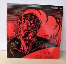 Current 93 Lucifer Over London Red Vinyl LP Signed David Tibet & Steve Stapleton
