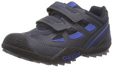 Geox Navy/Royal Secure Strap Leather Sneakers/Shoes  Little Boys Size  10 1/2