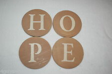 "Home Decor HANGING SIGN LETTERS Arrange as Desired H O P E Circles 5"" DIAM Hope"