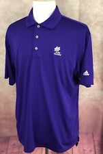 Adidas Golf Climalite Pullover Polo Oak Meadow Logo Purple Shirt Men's L