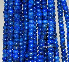 6X4MM  LAPIS LAZULI GEMSTONE GRADE A BLUE RONDELLE 6X4MM LOOSE BEADS 16""