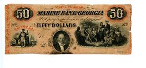 $50   Savannah, Georgia. Marine Bank Georgia.   18454-1866