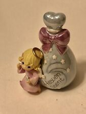 Precious Moments Heaven Scent Girl Alongside Perfume Bottle Angel Figurine