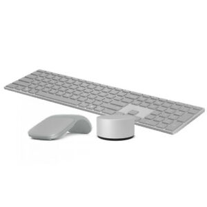Microsoft Surface Keyboard Gray + Surface Arc Touch Mouse Platinum + Surface Dia