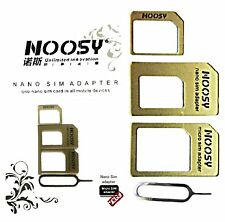 NANO MICRO SIM KARTEN ADAPTER MIT NADEL HANDY SMARTPHONE NOOSY GOLD XTRA CARD