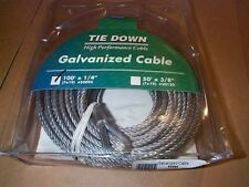 """Galvanized Steel Cable,Wire Rope,1/4""""by100ft,U.S .made."""