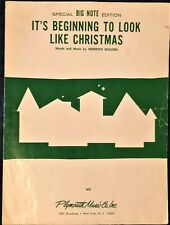 IT'S BEGINNING TO LOOK A LOT LIKE CHRISTMAS - BIG NOTE EDITION PIANO SHEET MUSIC