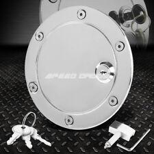 FOR 04-08 F150 V6 V8 TRUCK/CAB CHROME ALUMINUM GAS FUEL TANK DOOR COVER CAP+LOCK