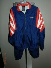 Classic Adidas mens tracking vintage old school Track suit Red white blue XL
