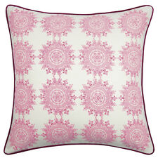WOW Stunning Sina Pink Square cushion cover Pink Back 60x60cm RRP $ 68.95