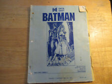 Missing Back Cover Batman Data East pinball machine manual