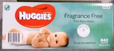 640 HUGGIES Thick Baby Wet Wipes Bulk Mega Pack Fragrance Free