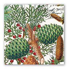 "Michel Design Works Paper Luncheon Napkins ""Spruce"" Pkg. of 20 Holiday"