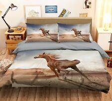 3D Desert Horse N33 Animal Bed Pillowcases Quilt Duvet Cover Queen King Amy