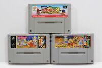 Lot of 3 Ganbare Goemon 1 2 3 Mystical Ninja SFC Super Famicom SNES Japan Import