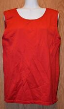 Womens Pretty Red George Sleeveless Shirt Size XL 16 18 excellent