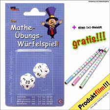 Mathe - Übungs - Würfelspiel // Rechnen - 1x1 - 1mal1 - Einmaleins + Rechenstift