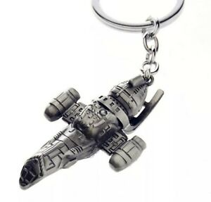 "Firefly Serenity Transport Ship Metal Keychain 2"" US Seller"