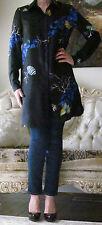 VERSACE Multicoloured Long Silk dress-y blouse/shirt/top It 42,US 6-8,UK10,S-M