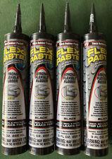 Lot Of 4 Flex Seal Black Rubber Paste 9 Oz Cartridge Strong Flexible Thick Seal