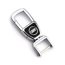 Leather Key Chains Car Logo 360° Spin Metal Key Hold for audi with ScrewDriver