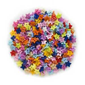 10pcs Star Shape Resin Buttons Sewing Scrapbooking Cloth Home Crafts Decor 12mm